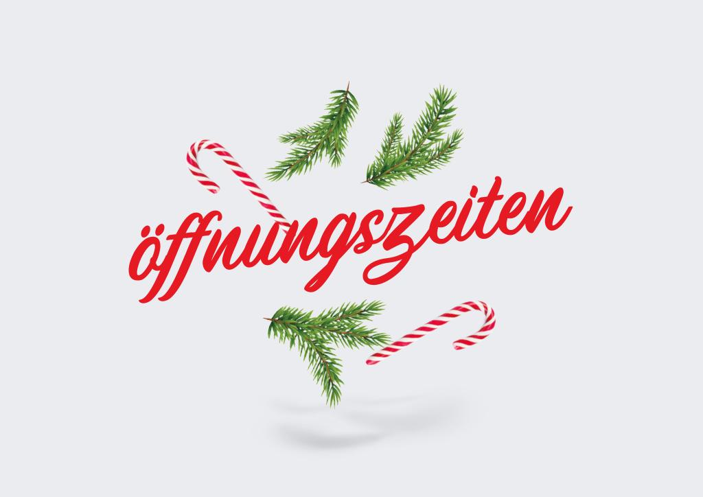 Geänderte Öffnungszeiten an den Weihnachtsfeiertagen