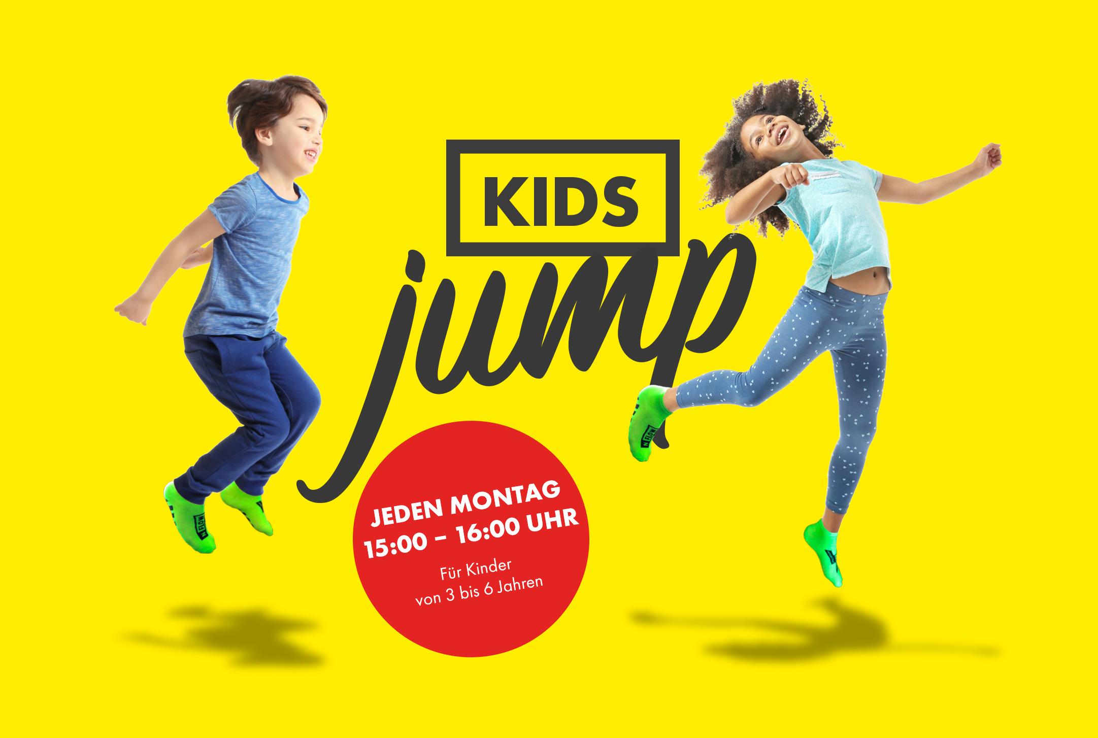 Jeden Montag: Kids Jump für Kinder zwischen 3 und 6 Jahren.