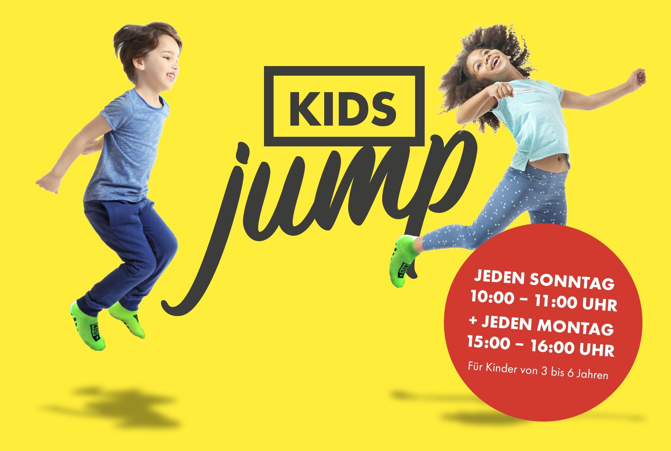 Der Kids Jump für Kinder zwischen 3 und 6 Jahren.