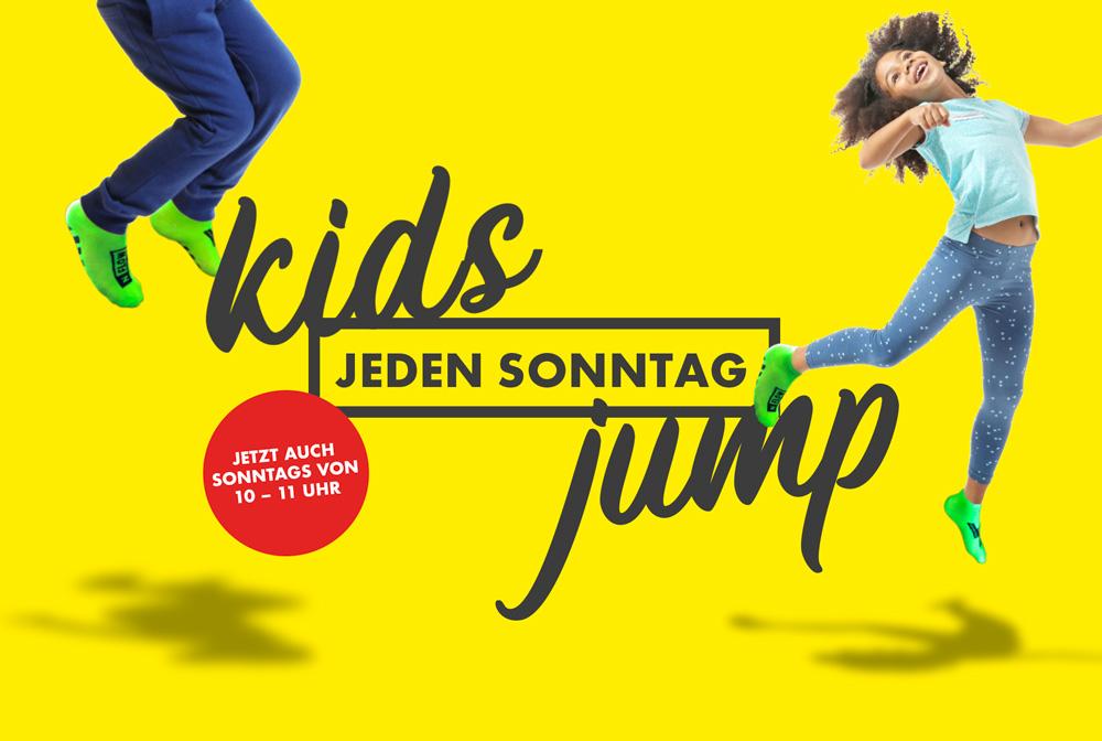 Trampolinarena: Jeden Sonntag ist Kids-Jump!